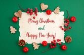 Fotografie Slavnostní vánoční přání s novoroční přání s textem Veselé Vánoce
