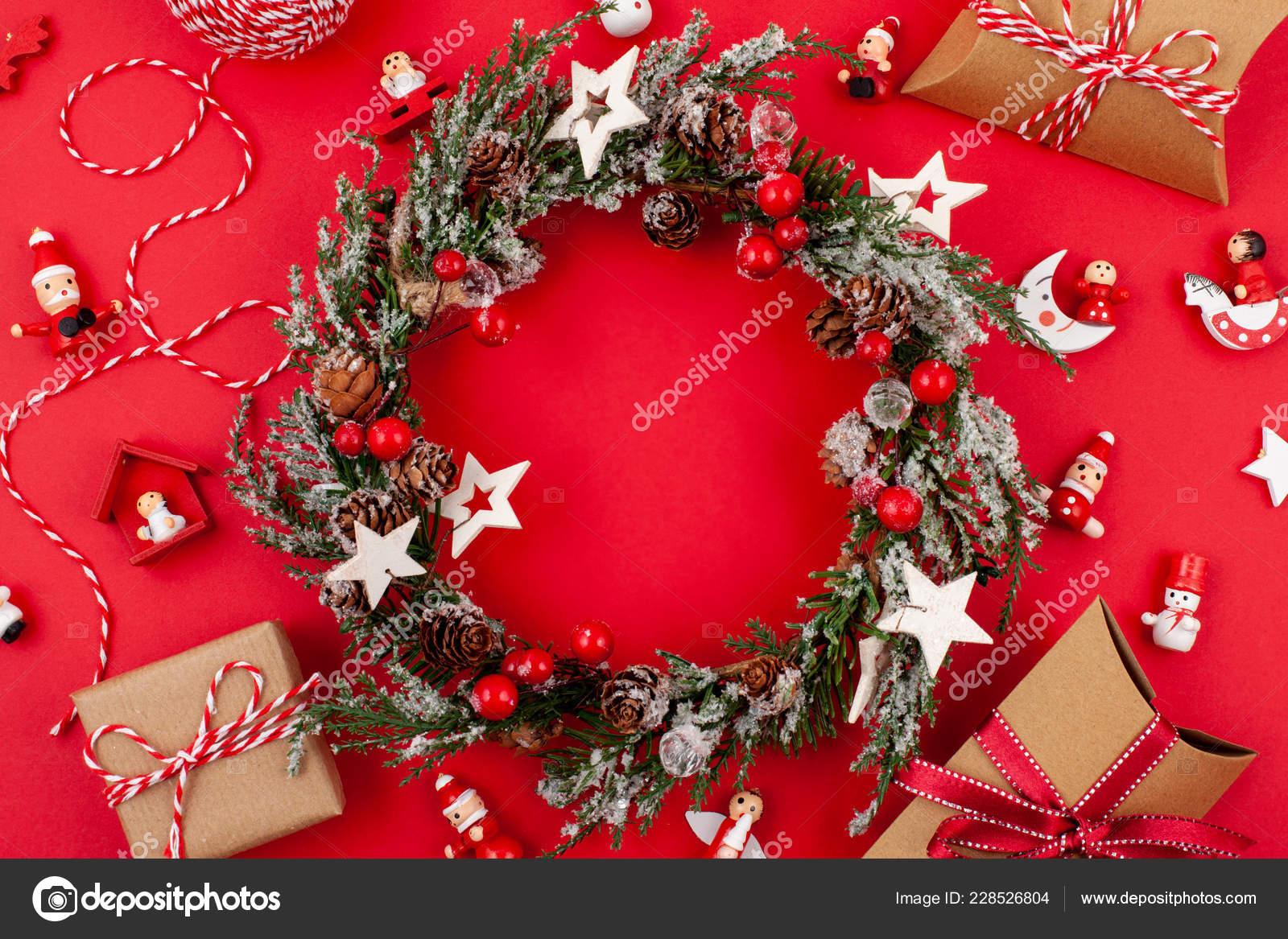 Plana Pone Con Decoración Brillante Navidad Celebración Del