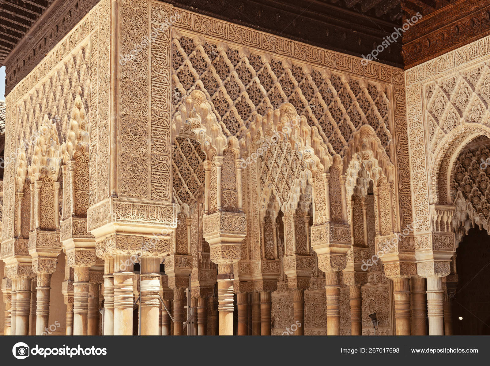 Architecture Detail Alhambra Palace Granada South Spain 600