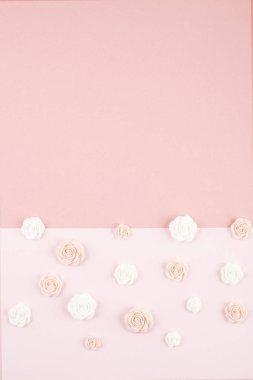 Pastel decorative minimal background . Wedding, birthday, baby shower greeting card, invitation conception stock vector