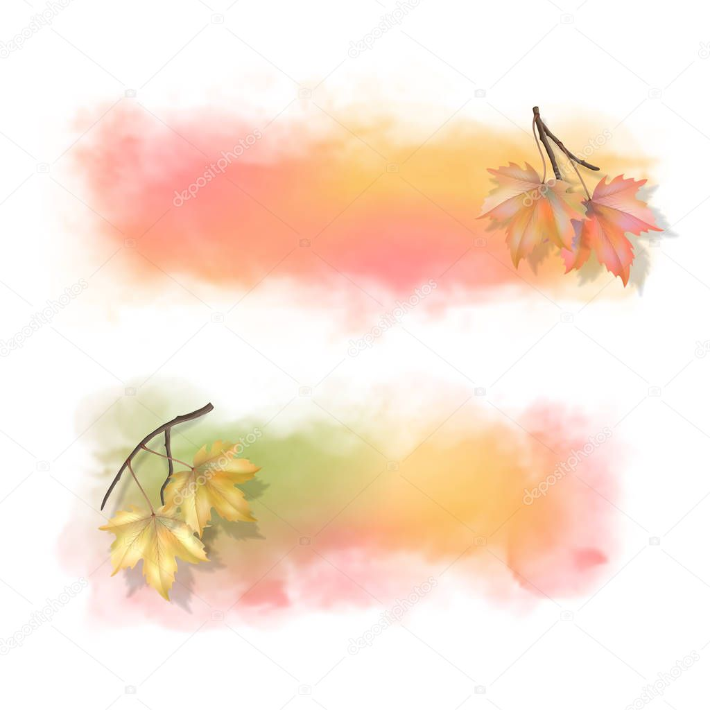 Autumn Watercolor Splash