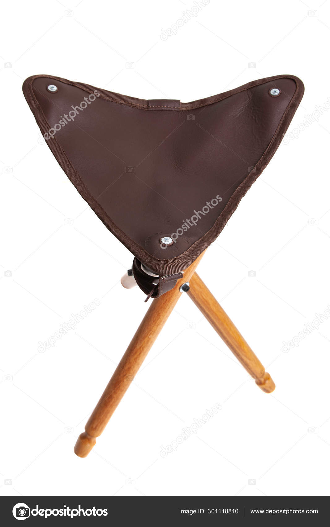 Phenomenal Folding Wooden Hunting Stool Tripod Isolate On White Squirreltailoven Fun Painted Chair Ideas Images Squirreltailovenorg