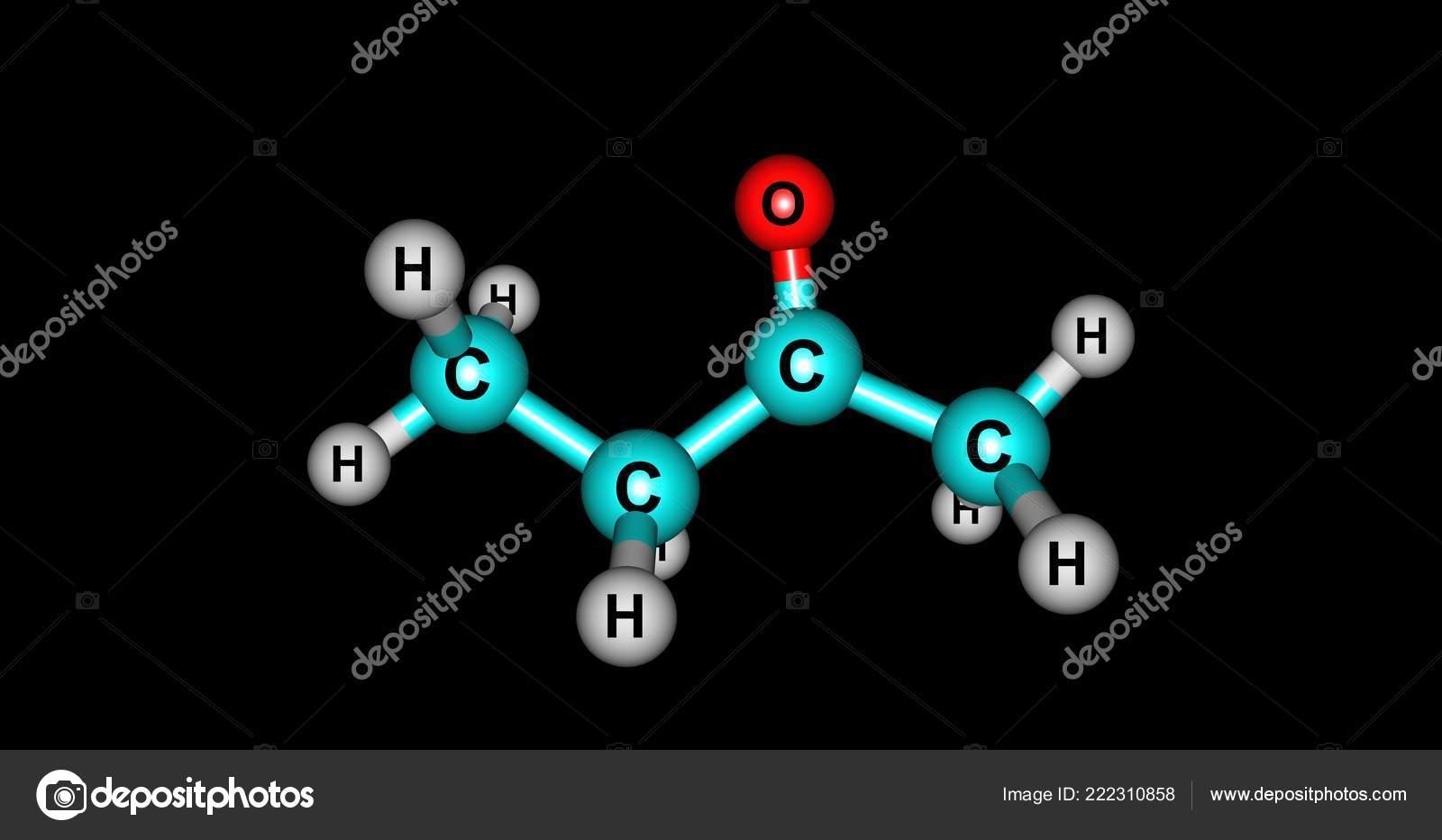 Butanone Methyl Ethyl Ketone Organic Compound Formula Ch3Cch2Ch3