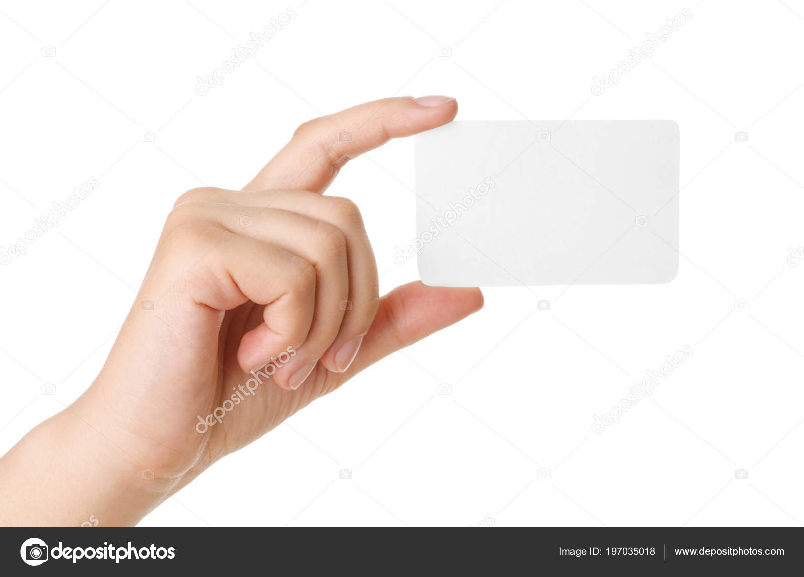 Hand Holding Business Card Isolated White — Stock Photo © helen2904 ...