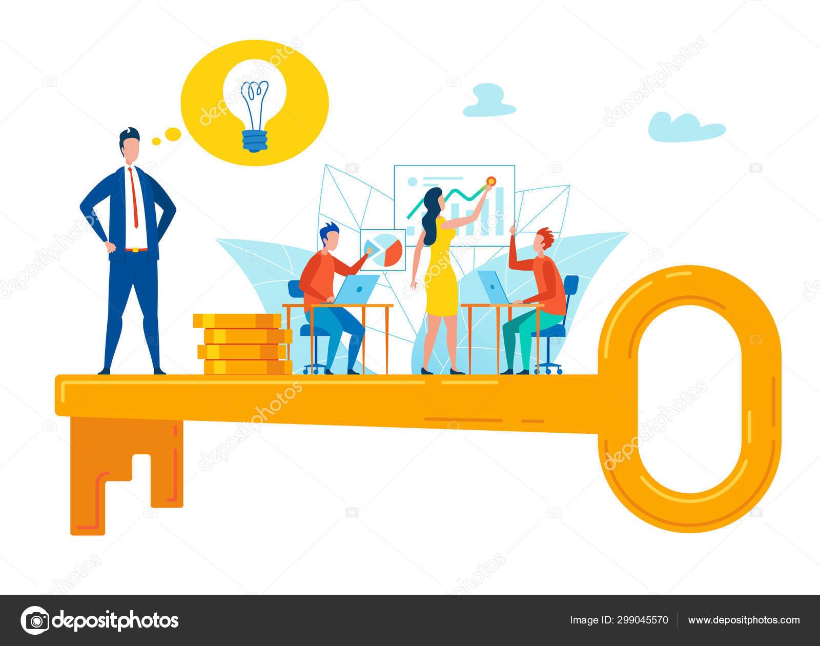 Estratégia De Seleção De Chave De Flyer Motivacional Plana