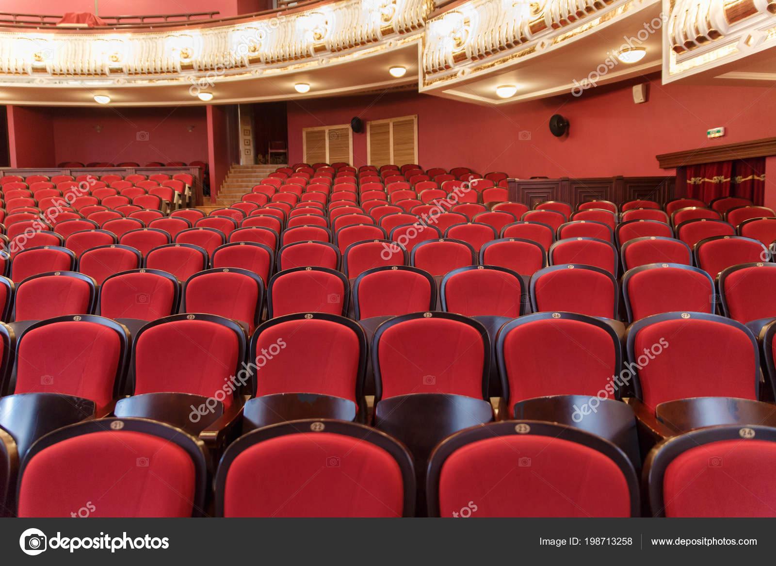 Teatro Le Sedie.Sala Teatro Per Visitatori Con Belle Sedie Di Sedie Di
