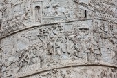 Detail from Trajans column in Rome, which was built by the emperor Trajan to commemorate his victory over the Dacians