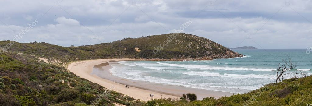 Panoramic view of Picnic Bay at Wilsons Promontory national park in Victoria, Australia