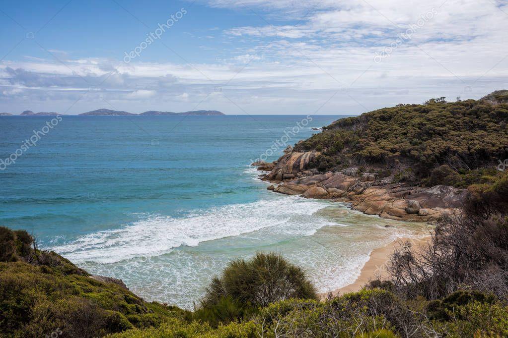 Leonard bay in Wilsons Promontory national park in Victoria, Australia