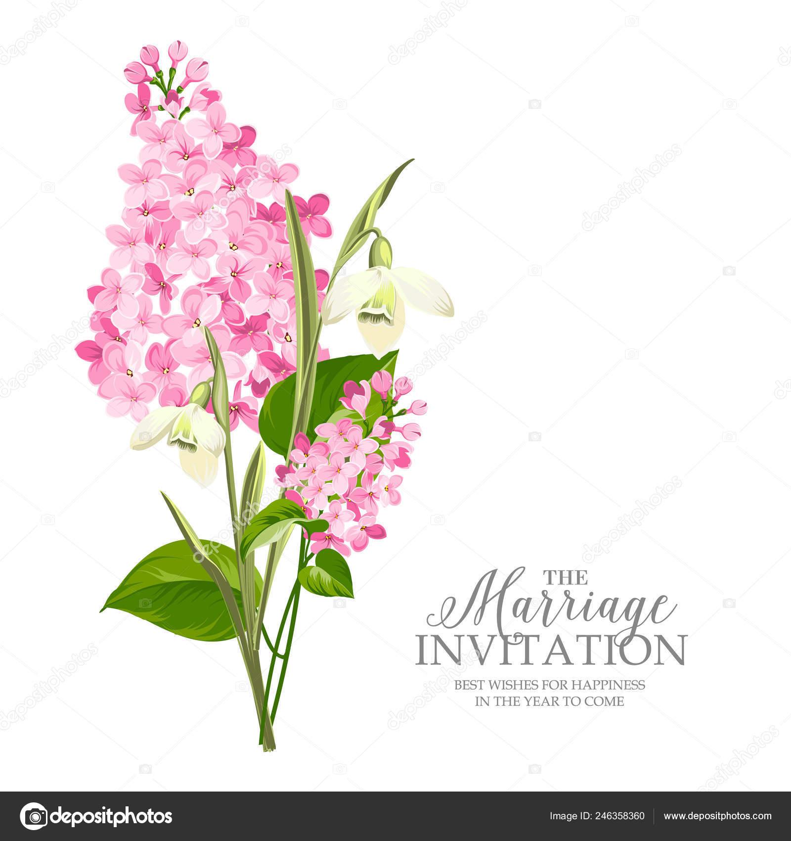 Tarjeta Invitación Matrimonio Con Plantilla Muestra