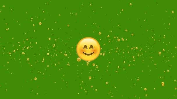 Na zelené obrazovce se náhodně vznášela animace úsměvu. 4k