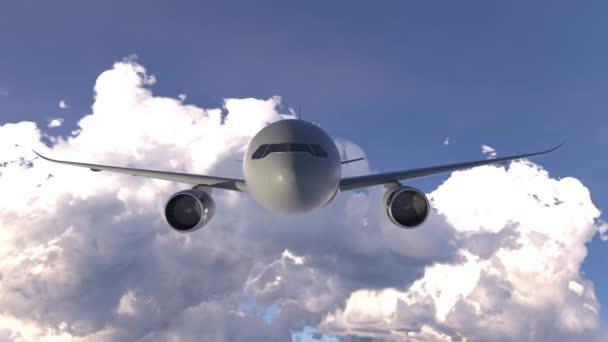 Passagierflugzeug fliegt über den Wolken. Hintergrundinformationen
