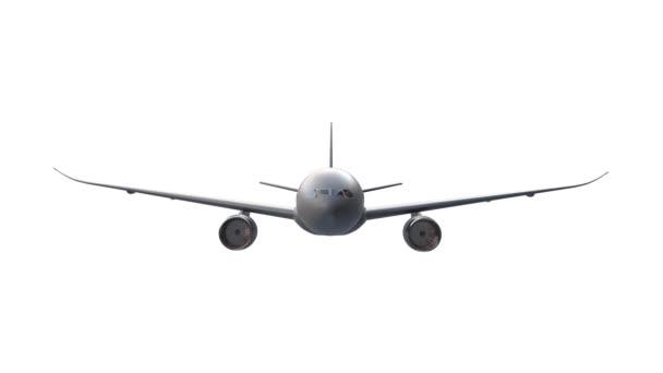 Osobní letadlo létání animace na bílém pozadí. Alfa kanál zahrnut