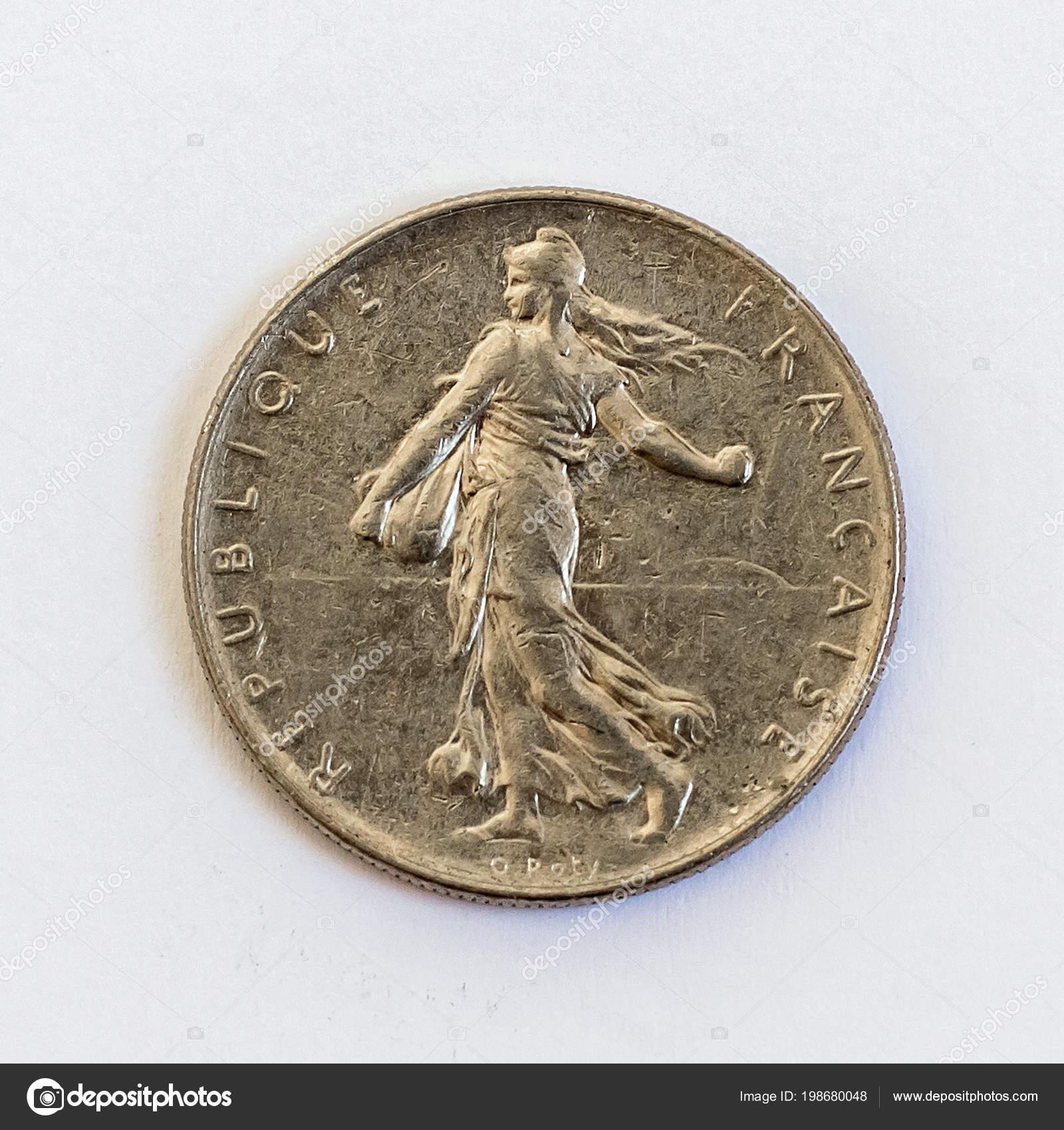 Frankreich Französische Münze Einen Franc 1978 Stockfoto