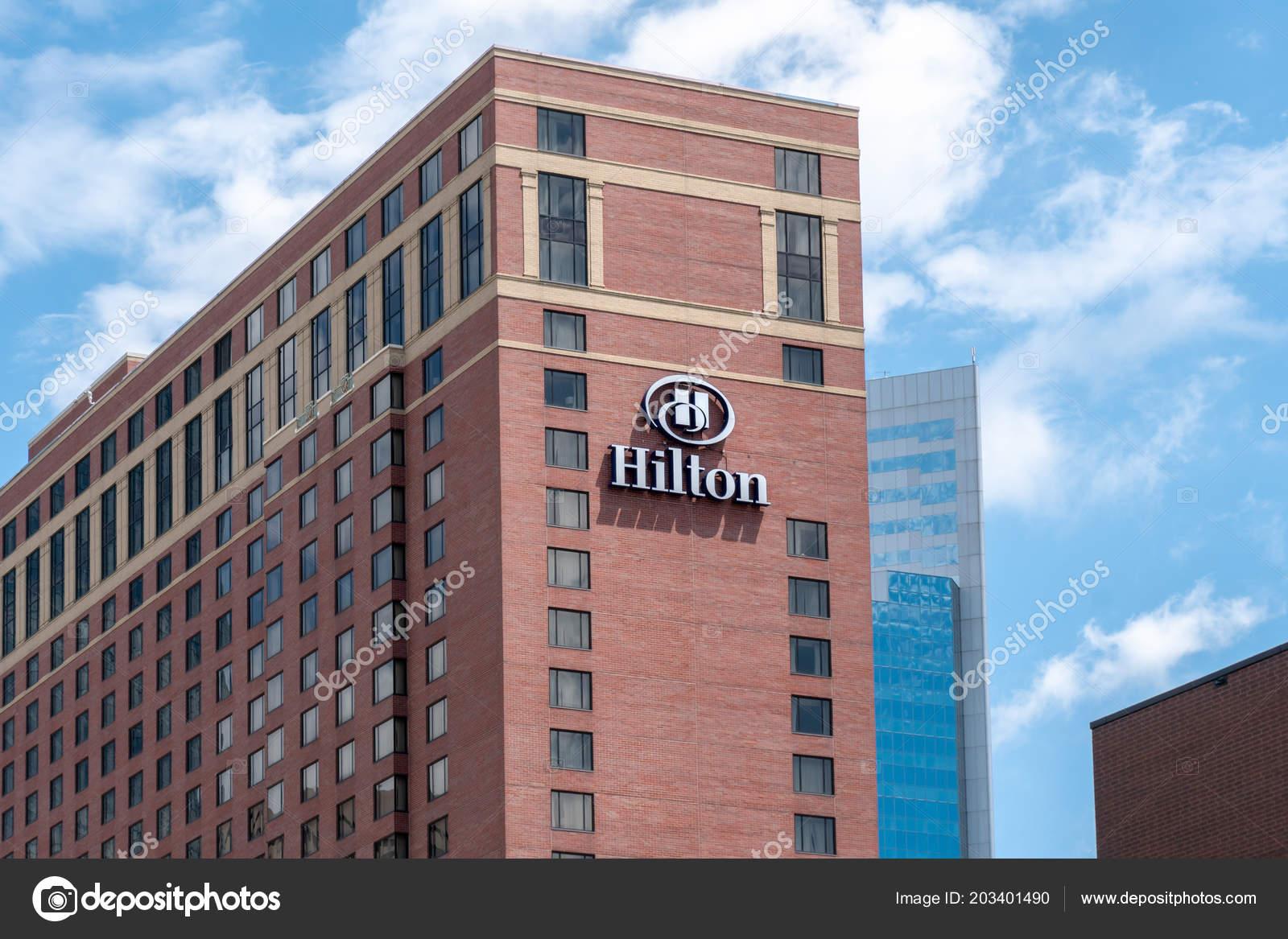 Minneapolis Usa June 2018 Hilton Hotel Exterior Trademark Logo