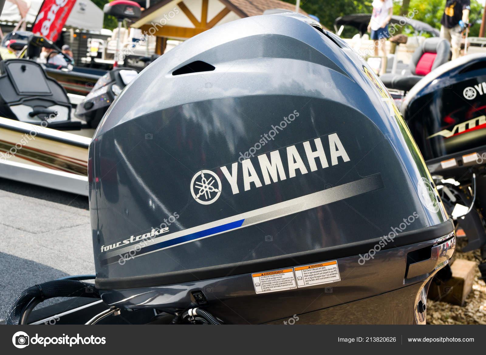 Paul Usa August 2018 Yamaha Außenbordmotor Logo Und Markenzeichen Yamaha — Stockfoto