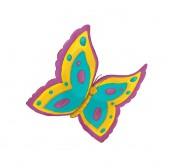 kreslený scény s létající motýl - na bílém pozadí - ilustrace pro děti