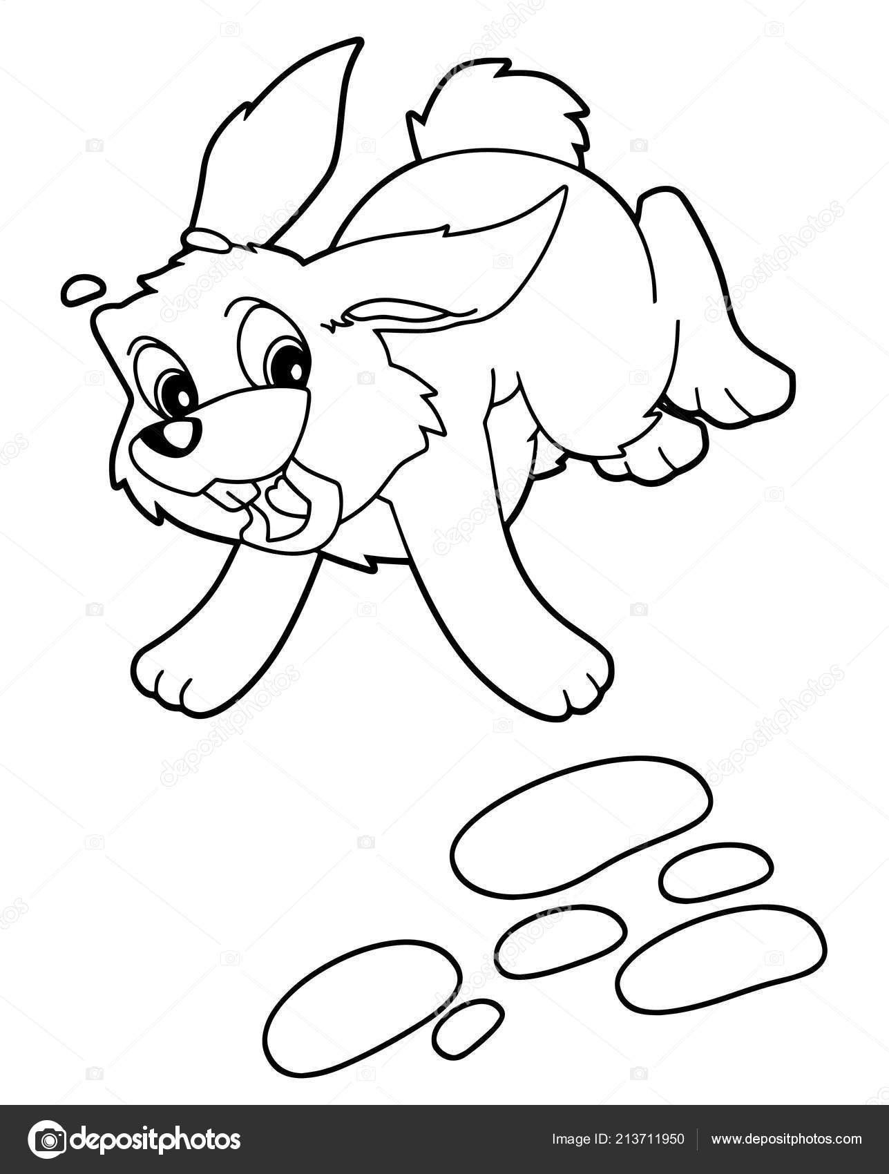 Cute Cartoon Hare Family Vector Coloring Page Outline Male And ... | 1700x1287
