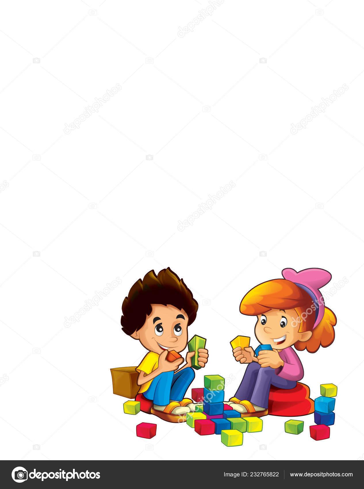 Scene Kids Backgrounds Cartoon Scene Kids Having Fun Colorful