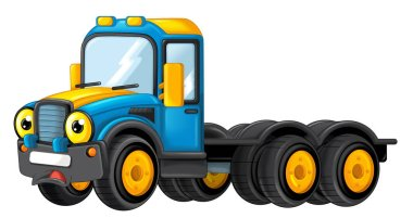 Cartoon happy cistern truck isolated on white background - illustration for children stock vector