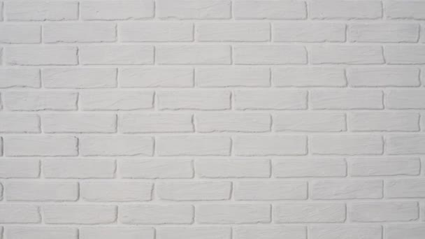 white brick wall with corner as background