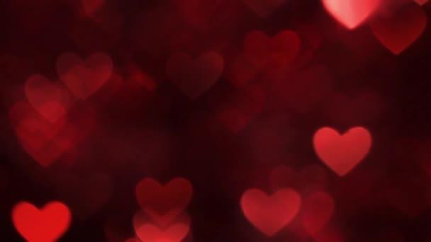 Barva pozadí červené abstraktní srdce bokeh
