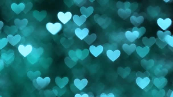 Abstract heart bokeh background blue color