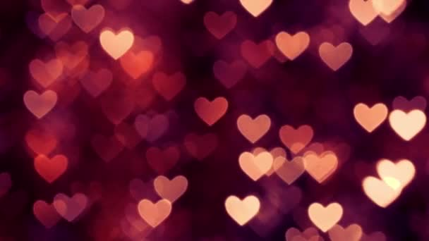 Abstract heart bokeh background magenta color