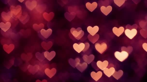 Abstract heart bokeh background red color