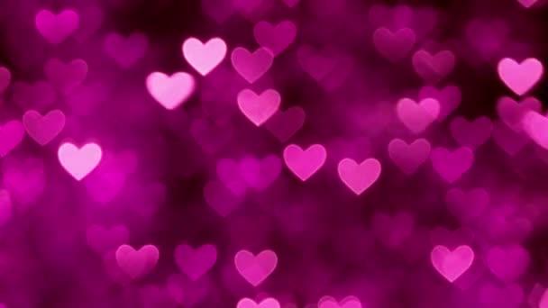 Abstraktní barvy pozadí Purpurové srdce bokeh