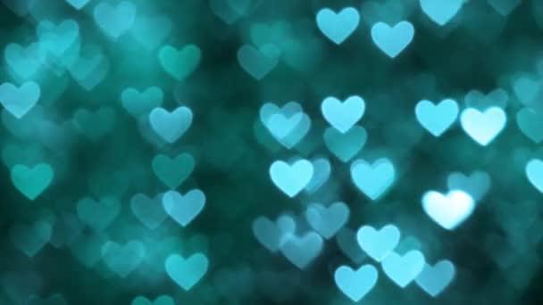 Barva pozadí azurová bokeh abstraktní srdce
