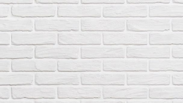 White Brick Wall Background Zoom Effect Video By Soleg Stock Footage 257122128