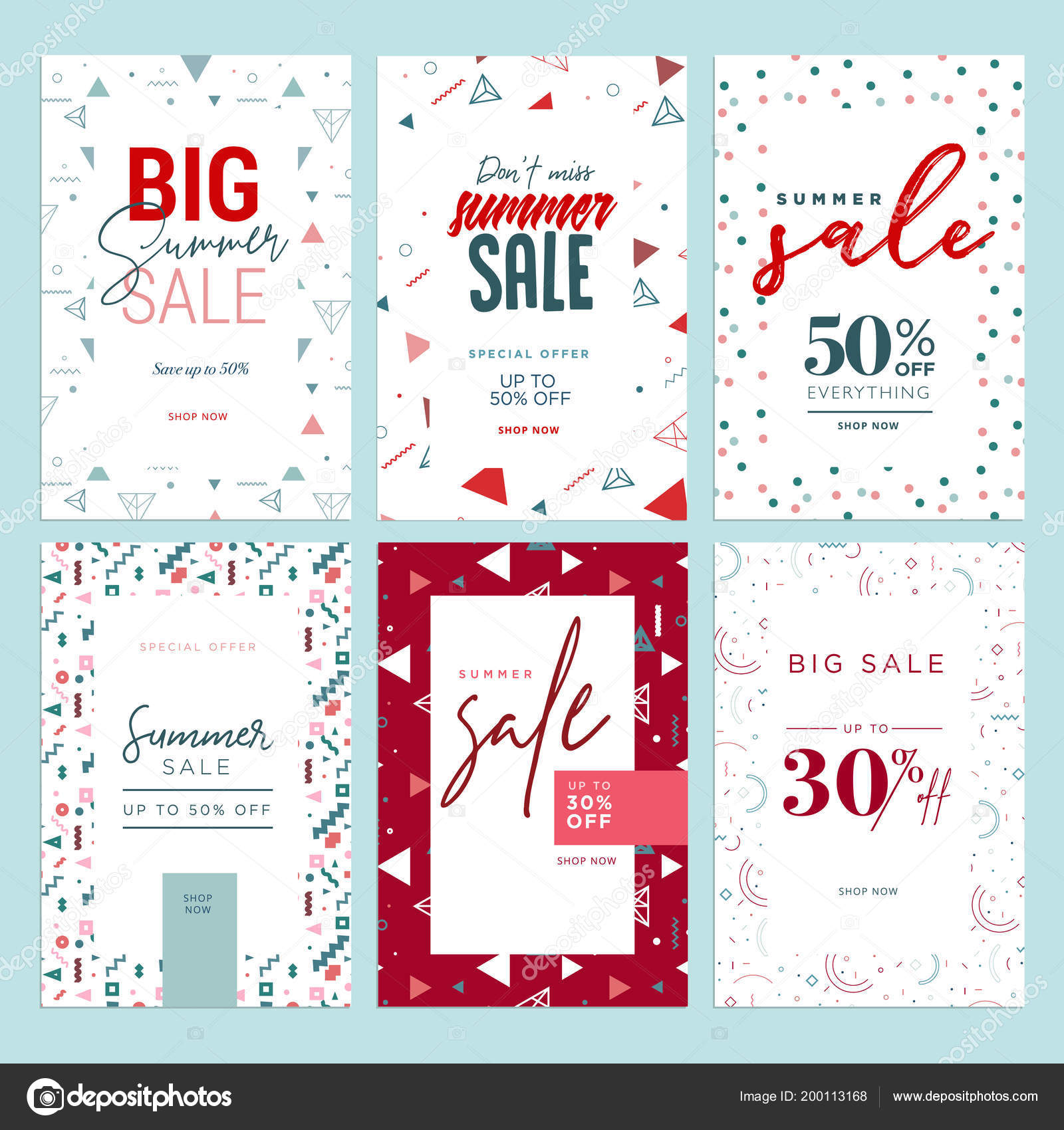 summer sale banners vector illustrations online shopping ads posters