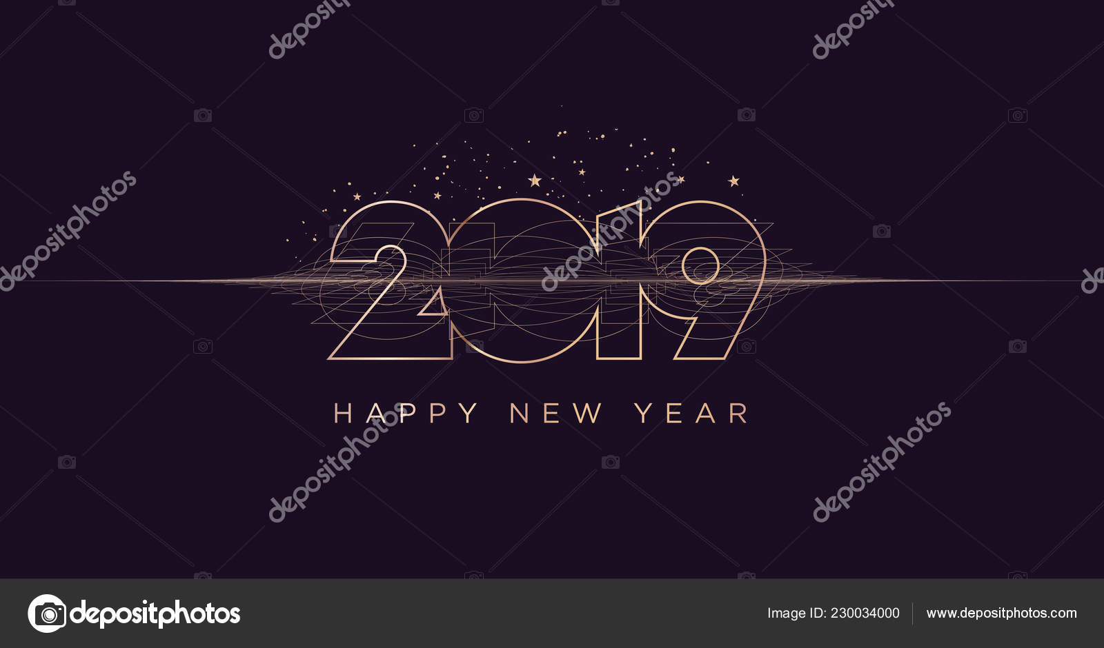 happy new year 2019 modern vector illustration concept for background greeting card website and mobile website banner party invitation card