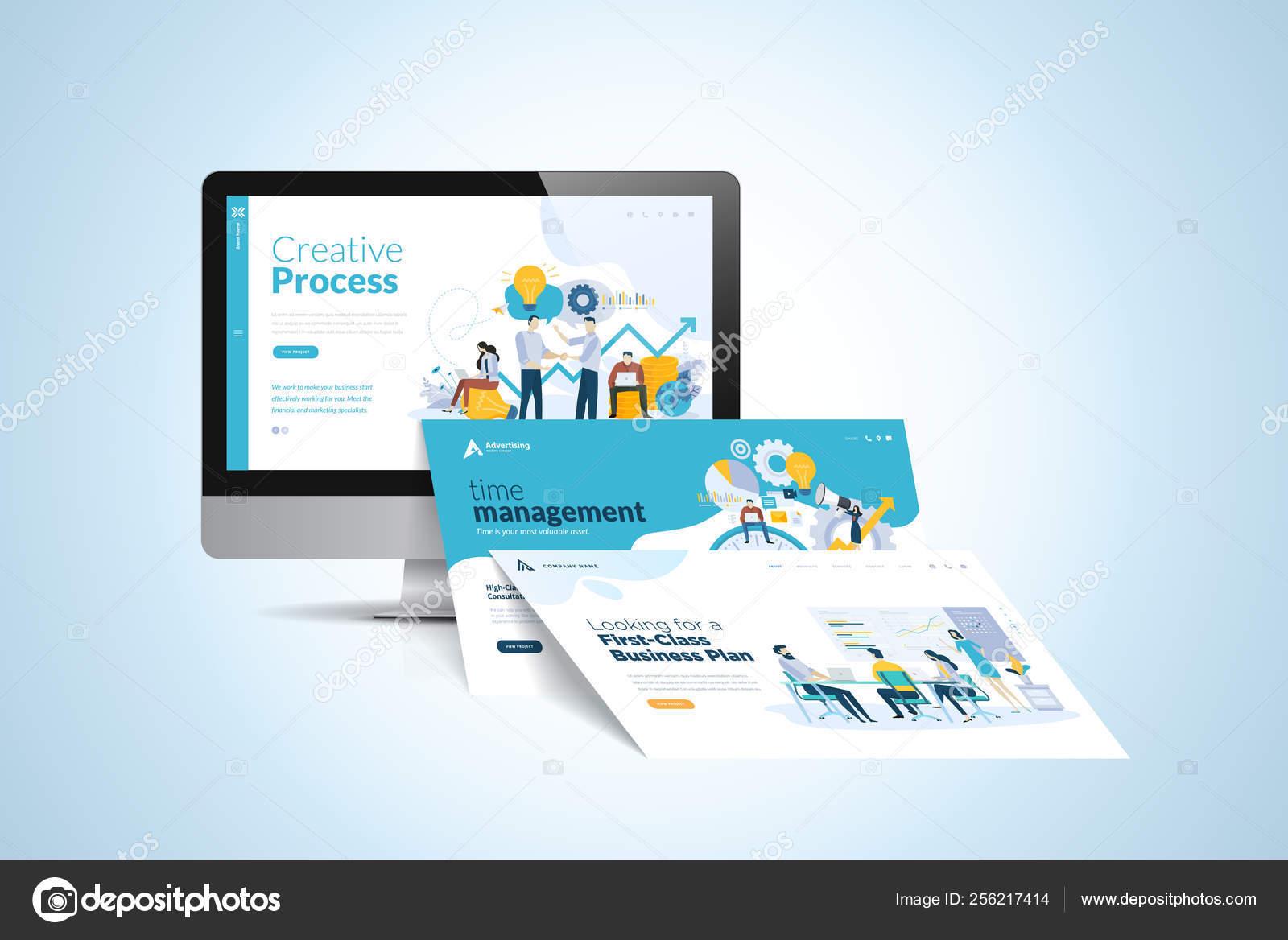 Web Design Template Vector Illustration Concept Website Design Development App Stock Vector C Variant 256217414