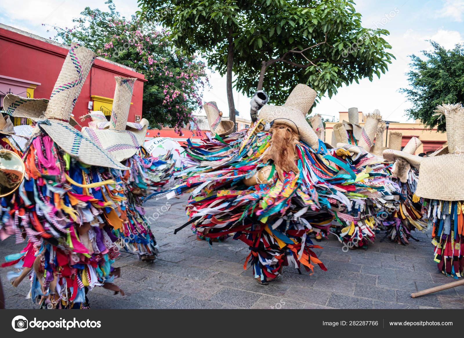 Oaxaca Oaxaca México Julio 2019 Hombres Vestidos Como