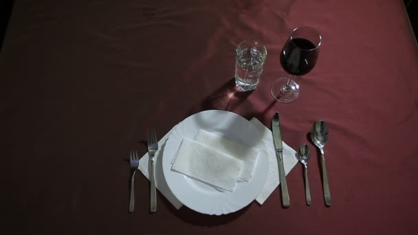 A plate of pasta served on the table