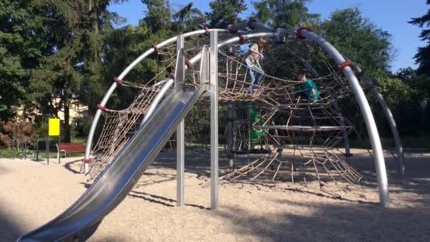 Children in adventure park