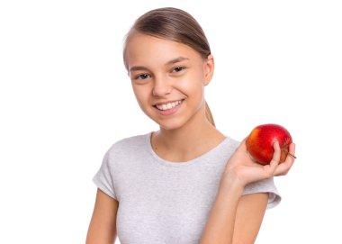 """Картина, постер, плакат, фотообои """"Девушка-подросток с овощами"""", артикул 300534110"""