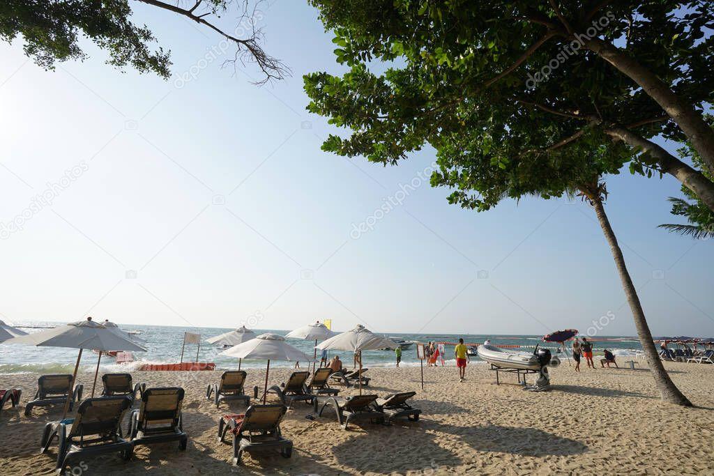 beautiful beach and relaxion at pattaya cholburi province thailand 13 November2018