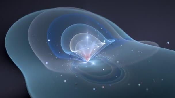 Glowing quantum computer qubit in work