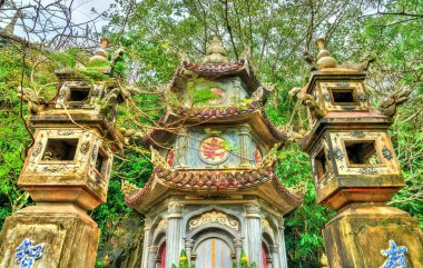 Buddhist temple on Marble Mountains at Da Nang, Vietnam