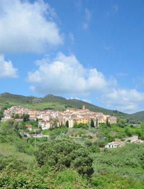 mountain Village of Rio nell Elba on Island of Elba,Tuscany,mediterranean Sea,Italy