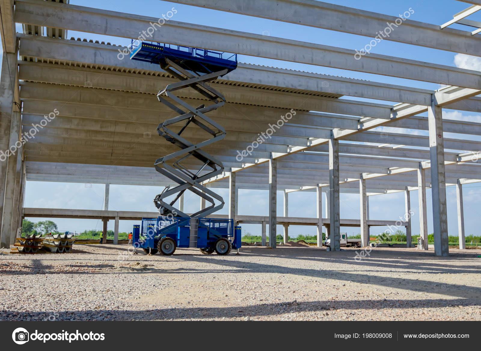 Scissor Lift Platform Stretched Hydraulic System Maximum