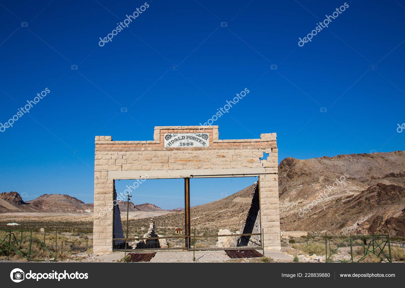 Rhyolite Ghost Town Nye County State Nevada Bullfrog Hills