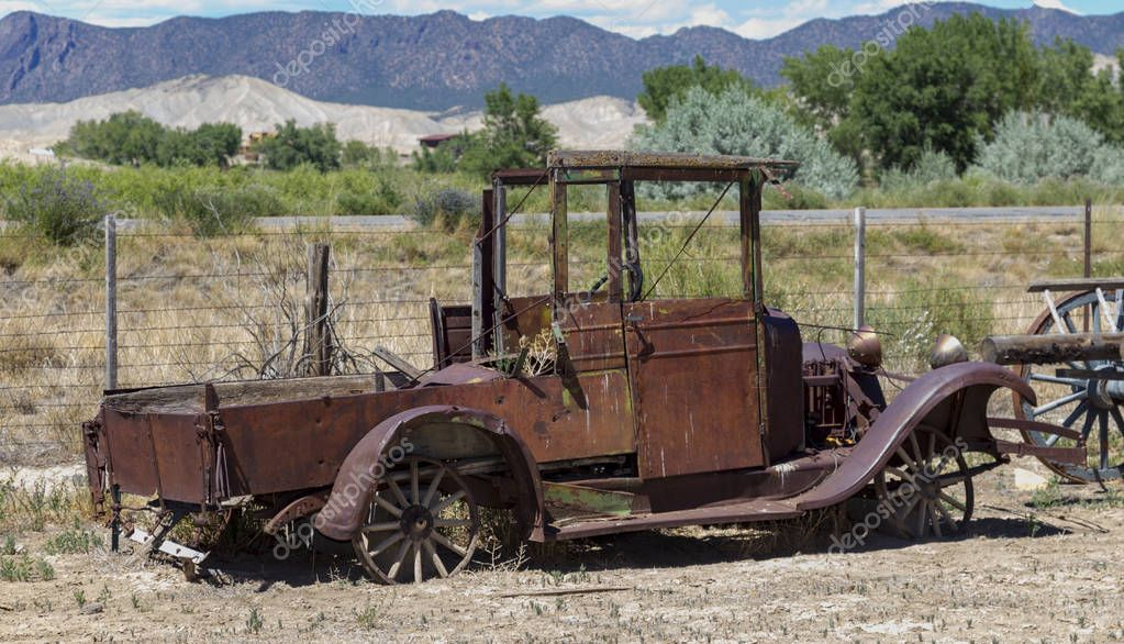 old rusted jalopy