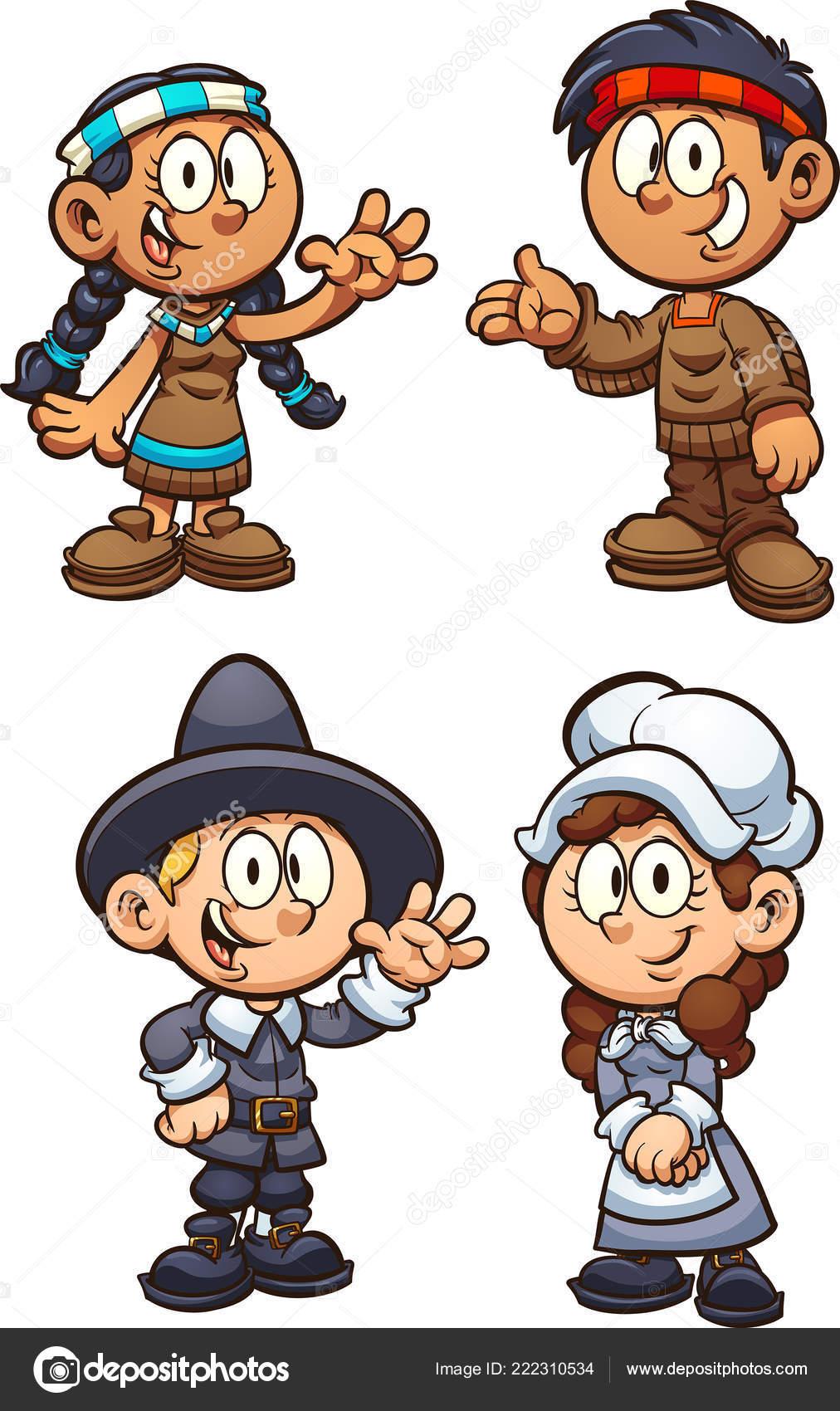 Clipart Thanksgiving Pilgrim Native American Pilgrim