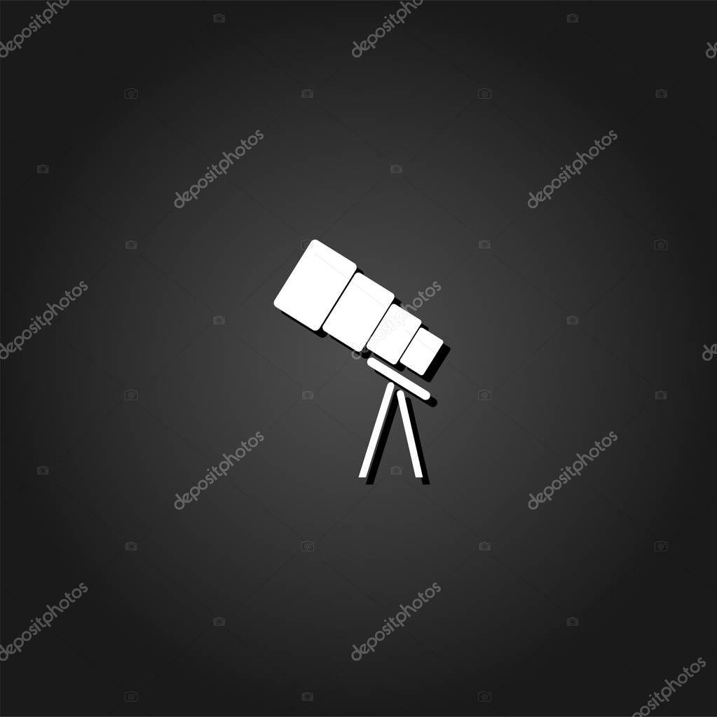 Telescope icon flat.