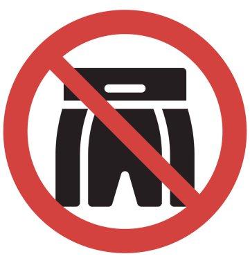 Stop Shorts Vector Icon