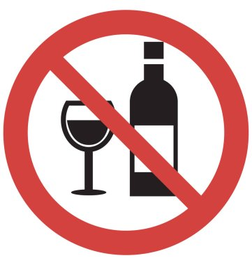 Stop Wine Vector Icon